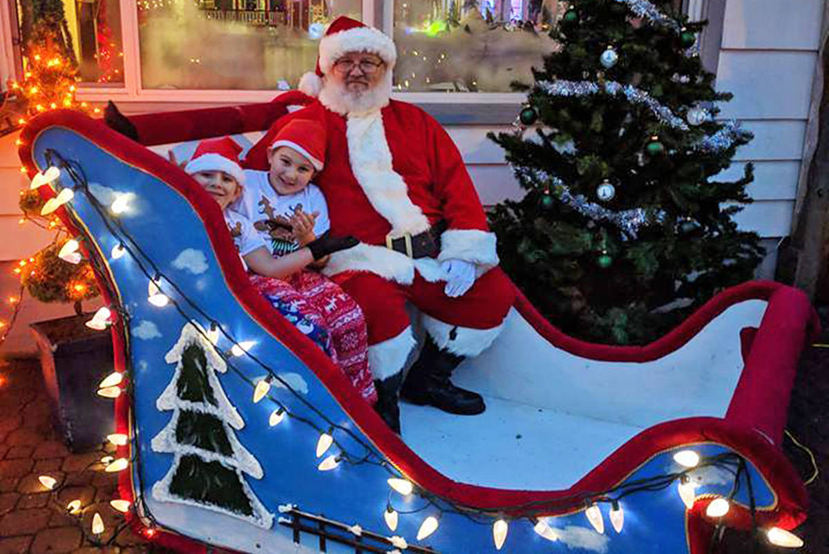 Don Taylor has run afoul of the Maple Ridge bylaws department for his Santa's North Pole Village attraction. (Facebook photo)