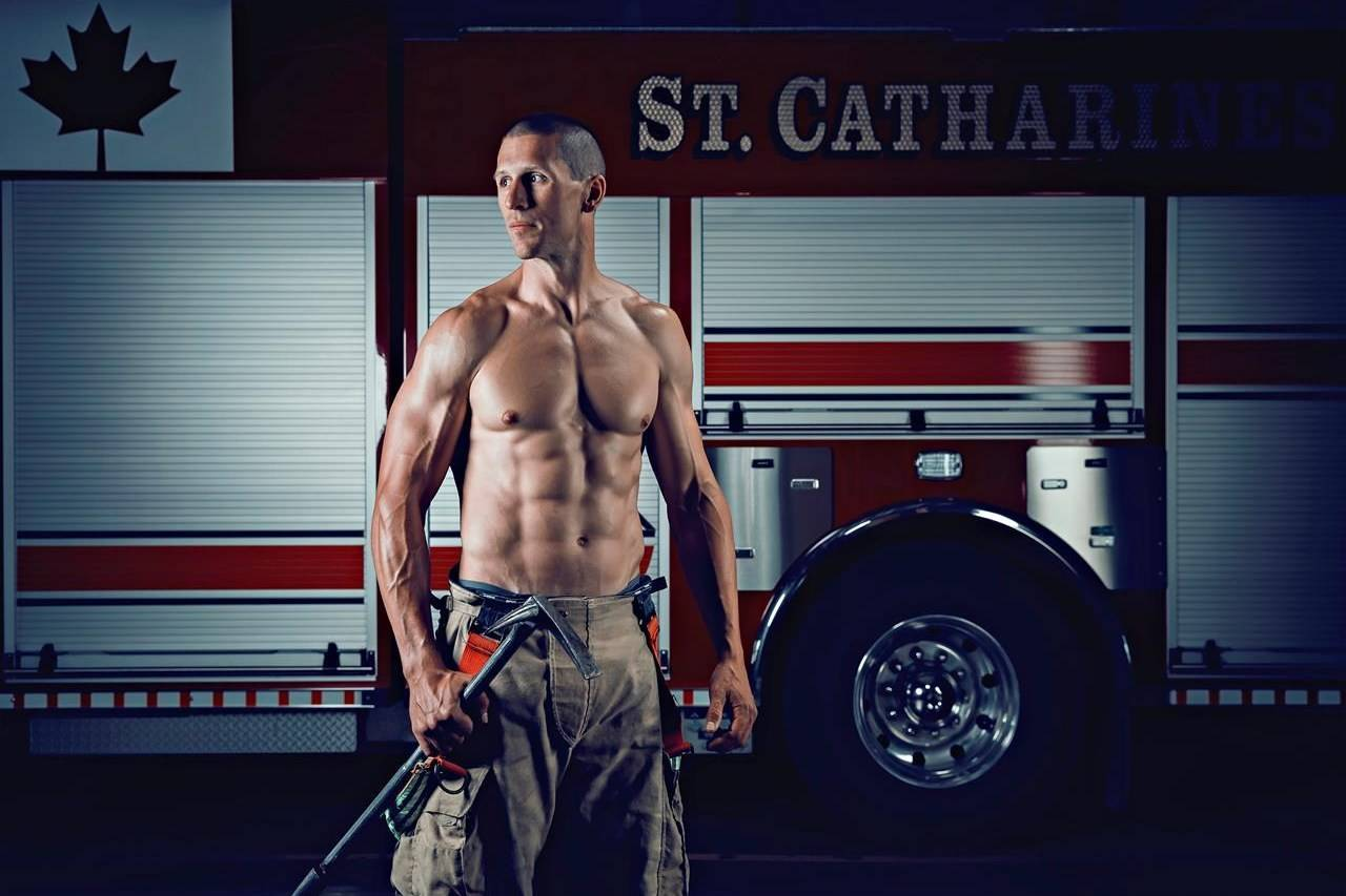 Every year, members of the St. Catharines Fire Combat Team strip down and flex their muscles for a good cause with proceeds going to charity. (St. Catharines Fire Department photo)