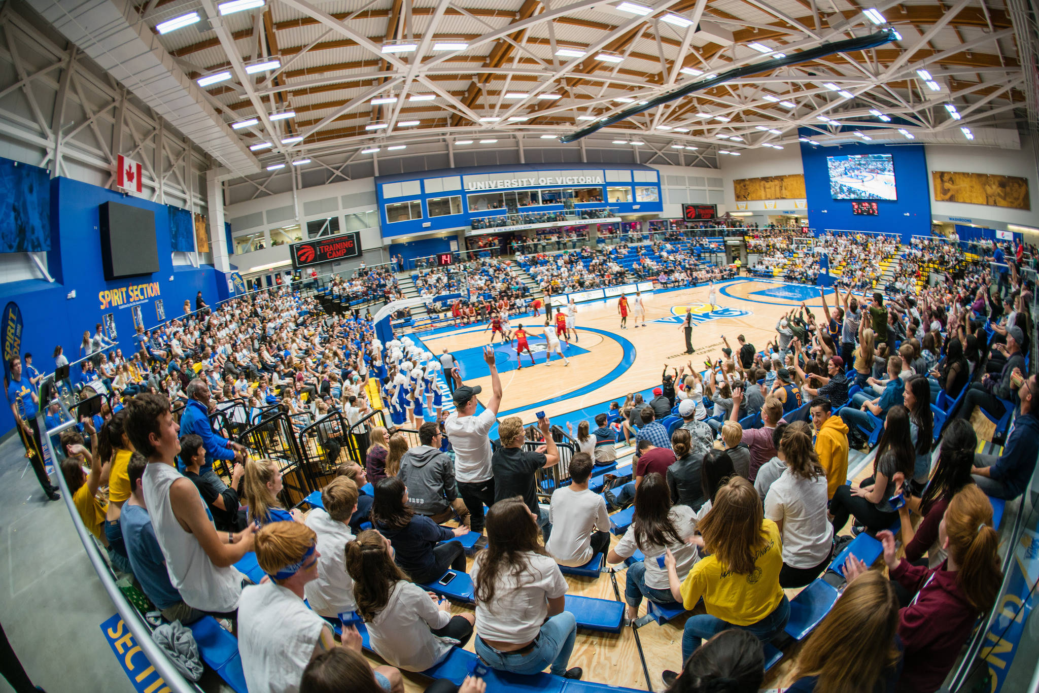 The UVic Vikes draw a big crowd at CARSA for the preseason Canada West game in this 2017 photo. While the size of public gatherings is still restricted, COVID-19 regulations have been relaxed slightly and some people are longing for the time when they are able to congregate once again. (APShutter.com/UVicVikes)